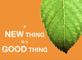 A New Thing is a Good Thing!