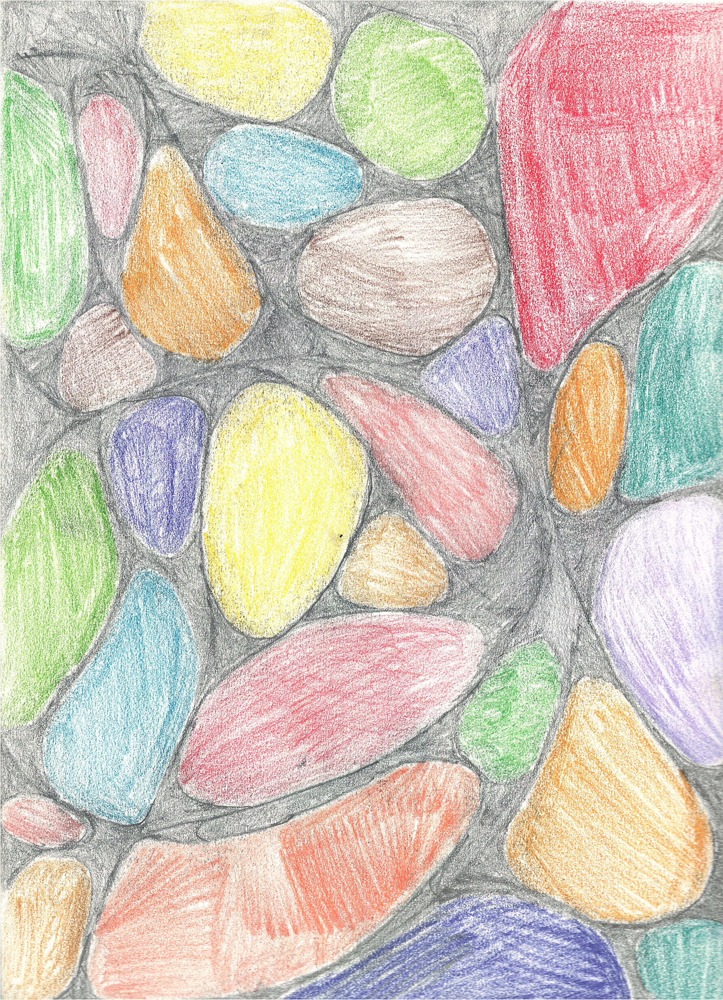 Drawing (colored stones)