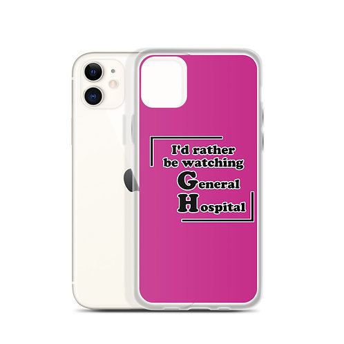 I'd Rather Be Watching General Hospital iPhone Case