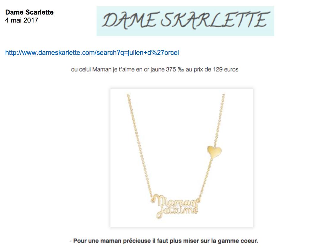 Blog Dame Skarlette