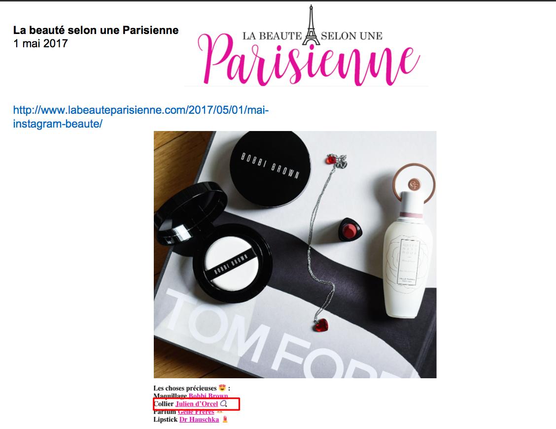 Blog La Beauté selon une Parisienne