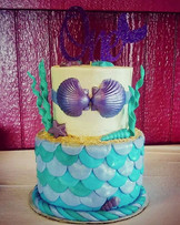 Mercake  for the Merbaby! #mermaidcake #mermaids #merbaby #tieredcake #valpocakes #Cake #b