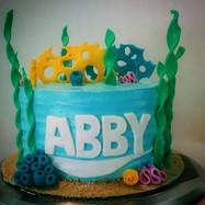 Finding Abby 🐠🐙🐟🐚 #Cake #findingdorycake #nemo #bdaycake #babyscake #cute #yum #kupkat