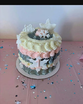 Late post for this little cutie! #winterONEderland #socute #snowflakes #snowflakecake #kup