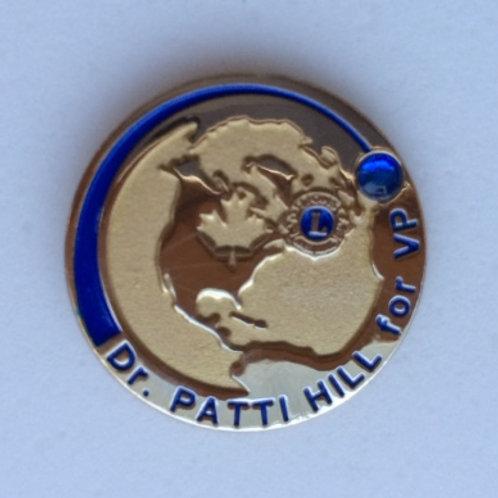 Dr. Patti Hill Supporter Pin - Sapphire