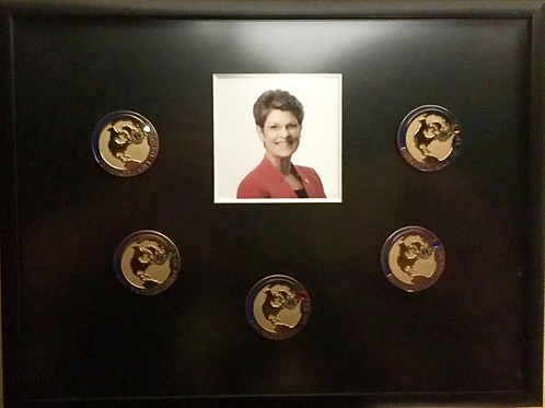 Boxed Set of Dr Patti Hill for VP Supporter Pins
