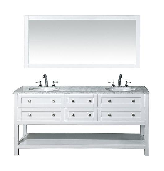 "Marla 72"" Double Sink Vanity with Mirror"