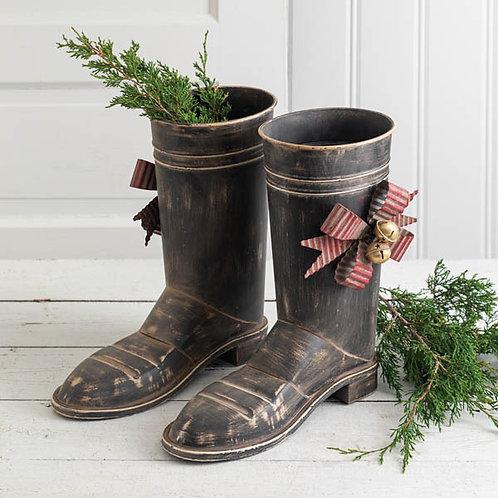 Set of Two Santa Boots