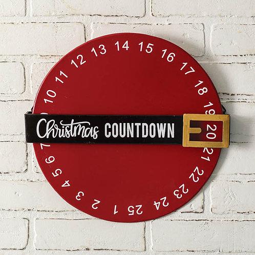 Spinning Christmas Countdown Wall Decor