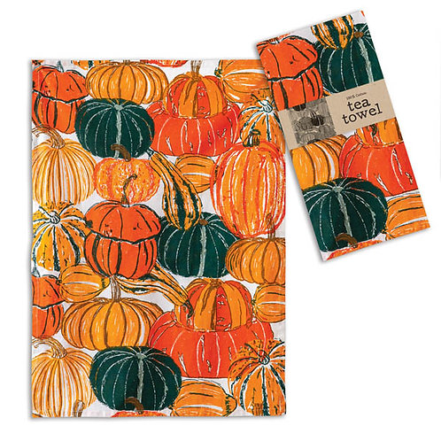 Pumpkins and Squash Tea Towel - Box of 4
