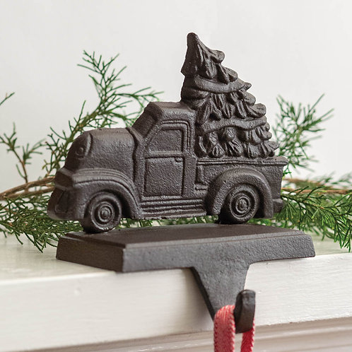 Cast Iron Truck with Tree Stocking Holder