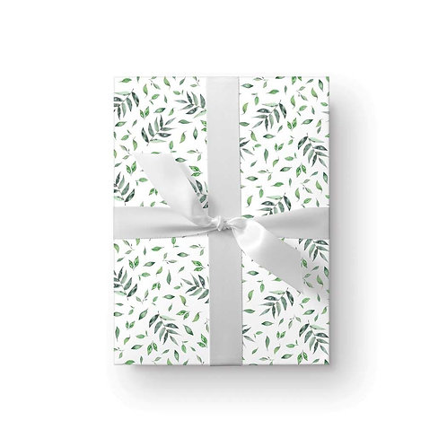 Ellen Walsh set of 3falling leaves wrapping paper