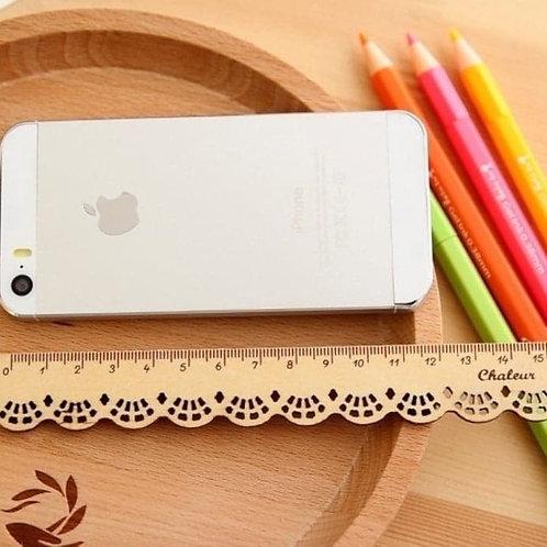 Wooden Lace 15cm Ruler