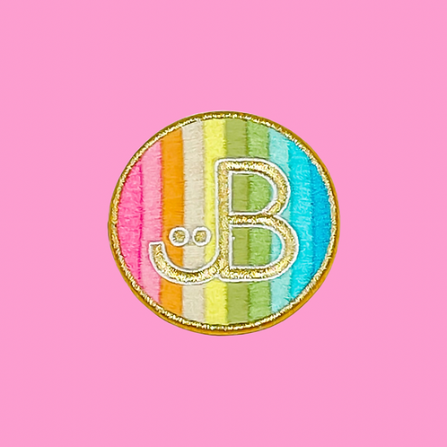 Rainbow Rolled Embroidery JB Logo Patch