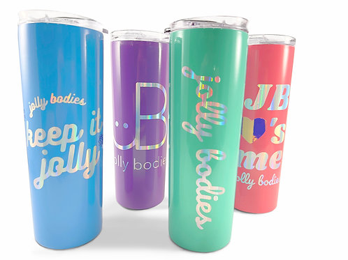 JB holiday collection : 20 oz. tumbler with matching silicone straw
