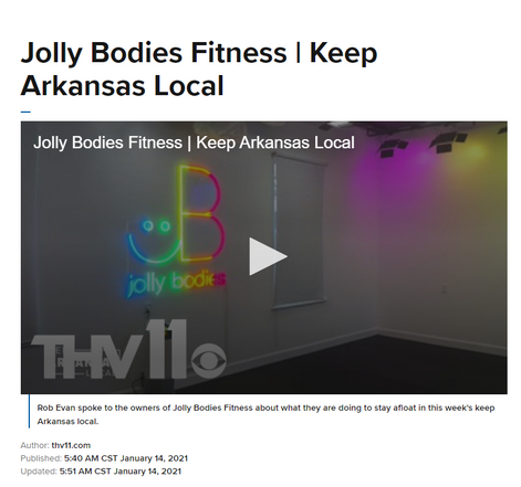 Rob Evan spoke to the owners of Jolly Bodies Fitness about what they are doing to stay afloat in this week's keep Arkansas local.