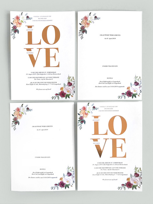 Hochzeitseinladung Layout Visualisierung Malluvia München Marcella Breugl Innenarchitektur