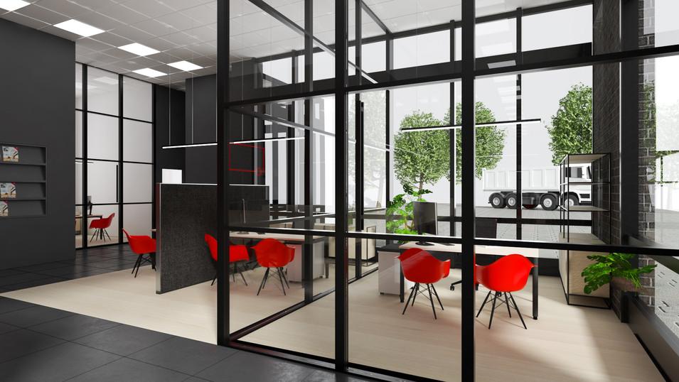 Brummi Center Wasserburg Innenarchitektur München Malluvia Marcella Breugl Büro Beratungsraum