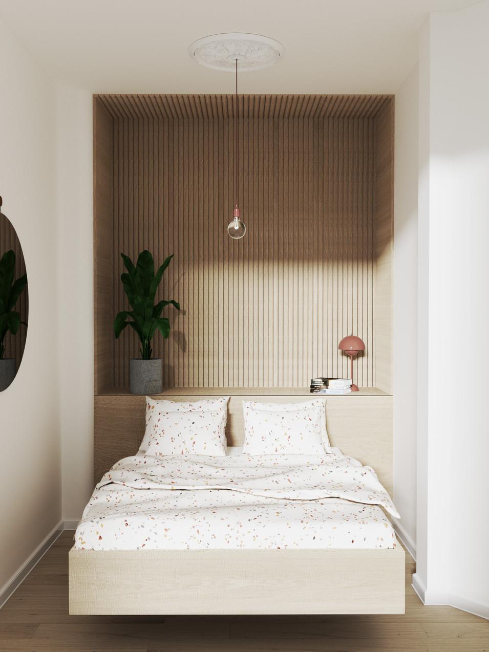 Malluvia München Marcella Breugl Innenarchitektur Schlafzimmer Bettnische Holzverkleidung