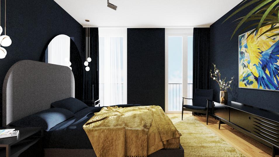 Schlafzimmer Innenarchitektur Marcella B