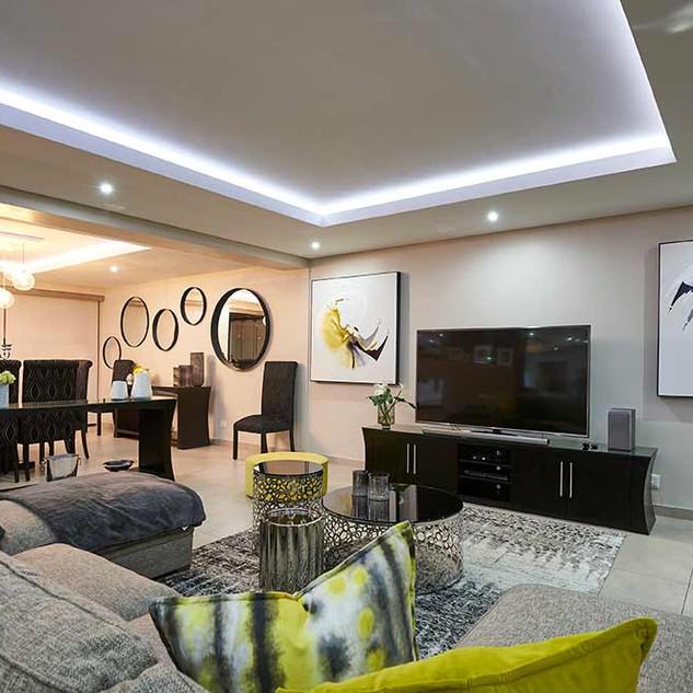 Yellow Lounge swirls