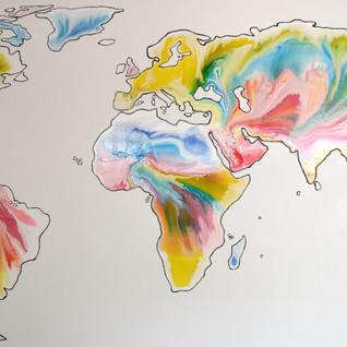 World on canvas