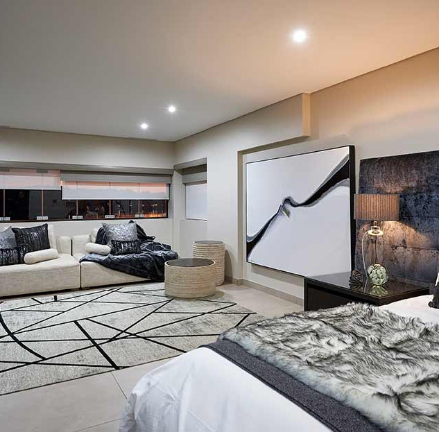 blk+wht bedroom