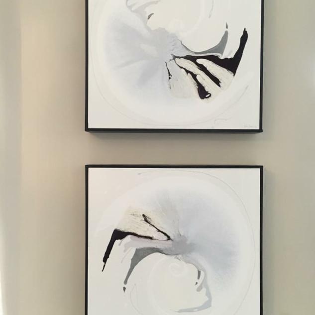 Grey framed