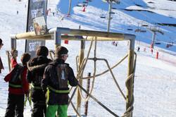 Corde game station de ski