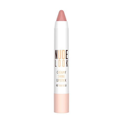 GR NUDE LOOK CREAMY SHINE LIPSTICK NO:02 PINK ROSE