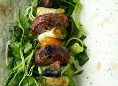 Haggis and Black Pudding Kebabs