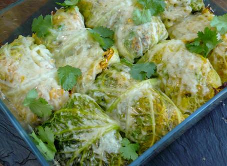 Haggis Stuffed Cabbage Leaves