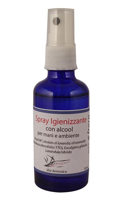 Spray igienizzante con oli essenziali 50 ml