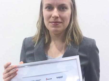 Heinzel-Mondi-Sappi and Aalto University dissertation awards to Teraloop's Meri Lundahl