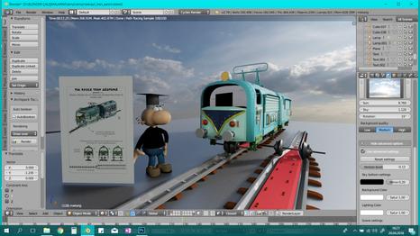 Tek çubuk raylı Demiryolu sistemi ve treni procesi