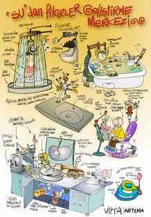 Artema için poster karikatür