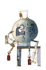 Meşrubat firması üretim tesisleri illüstrasyonları