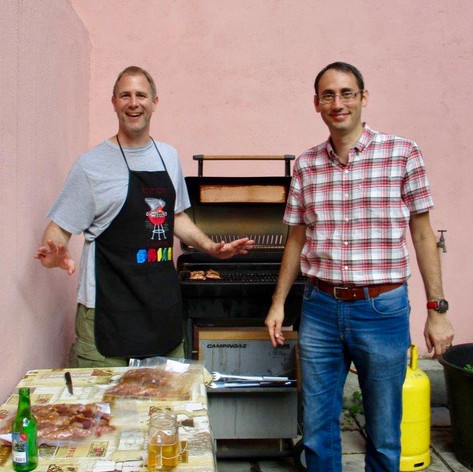 Brian & Francesco: Summer BBQ in the Courtyard