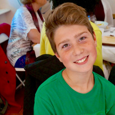 Young Sam at a Curry Supper Fundraising Dinner