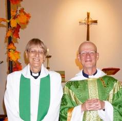 Fr Nigel with Archdeacon Adèle Kelham