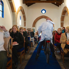 Riding off into the Congregation :-)  Fabulous Day!