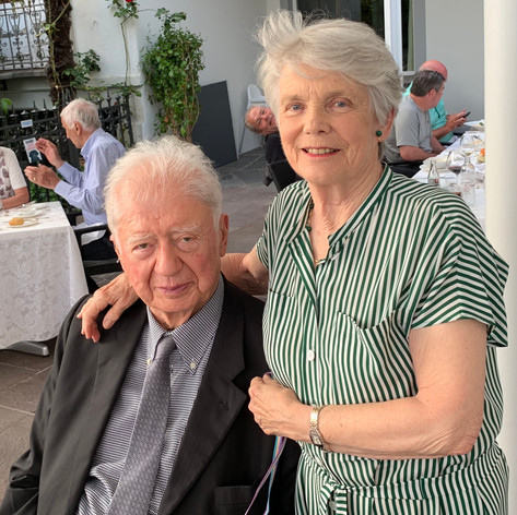 Penny with her late husband Aldo at a British Residents' Association Dinner