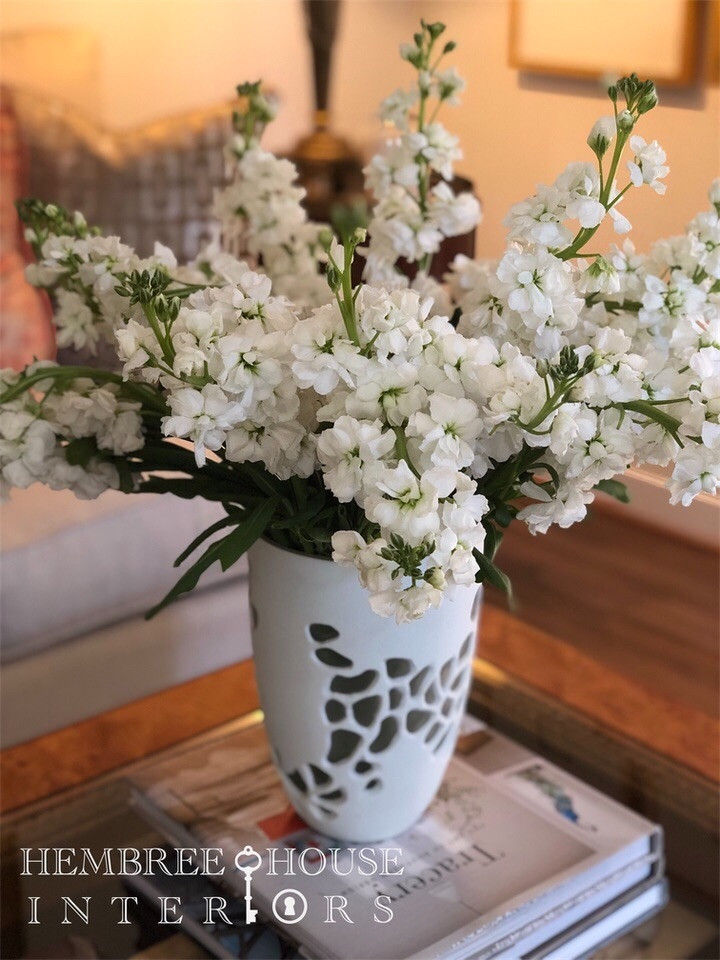 stock flowers in a vase and holiday decorating for the home
