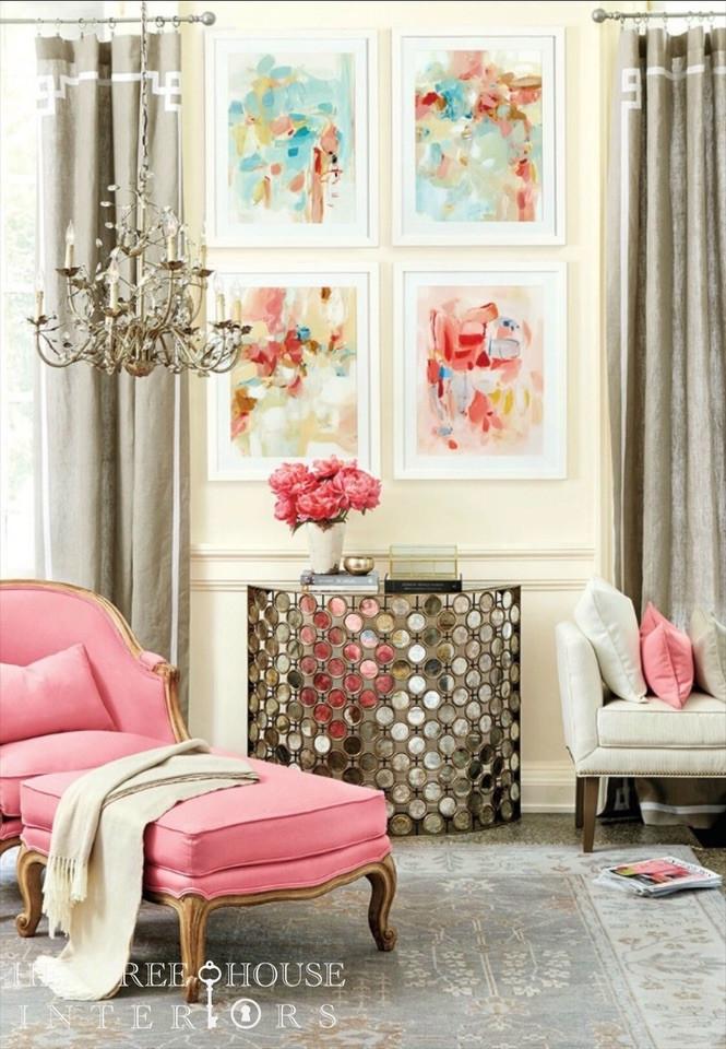 art chaise bench pillows flowers chandelier