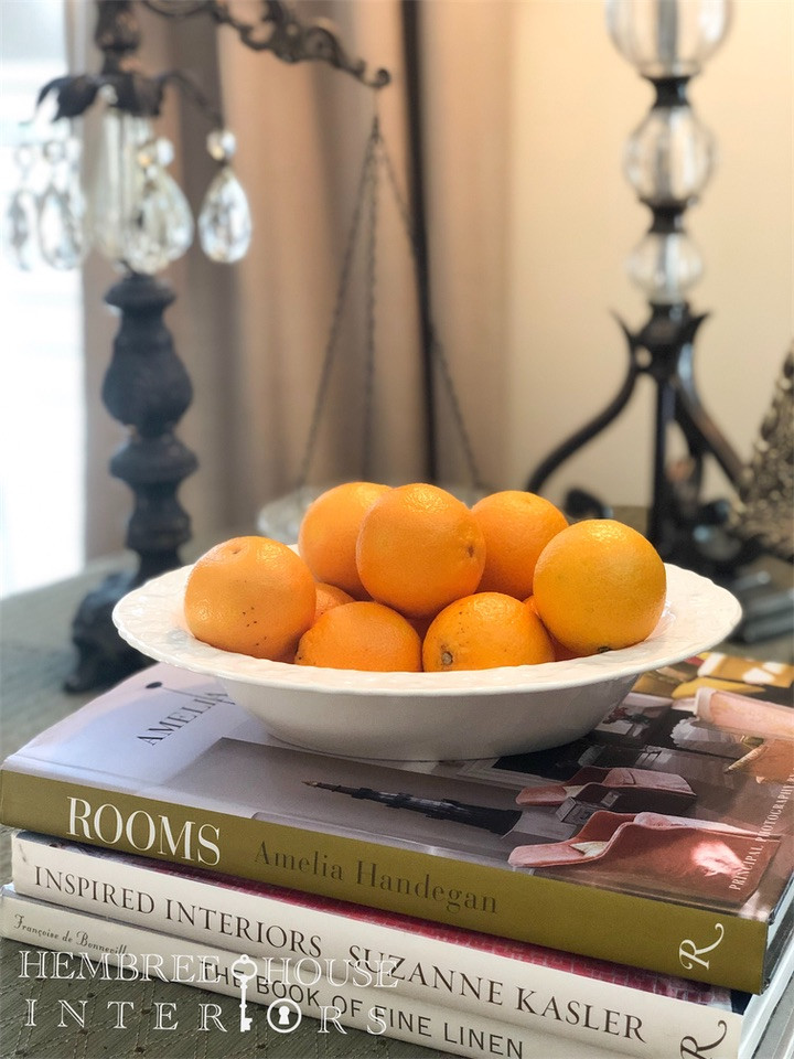 how to use a bowl of oranges for holiday decorating