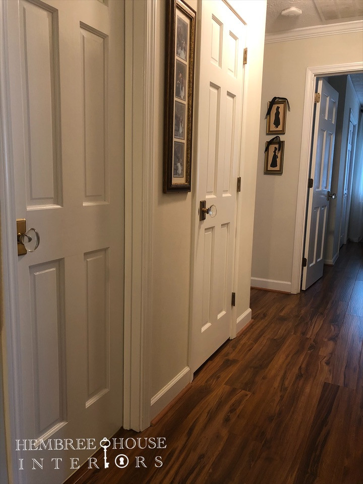 painting doors white and replacing door hardware crystal door knobs