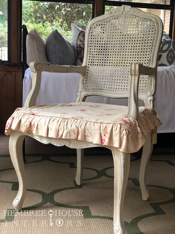 cane chair slipcover french chair tutorial