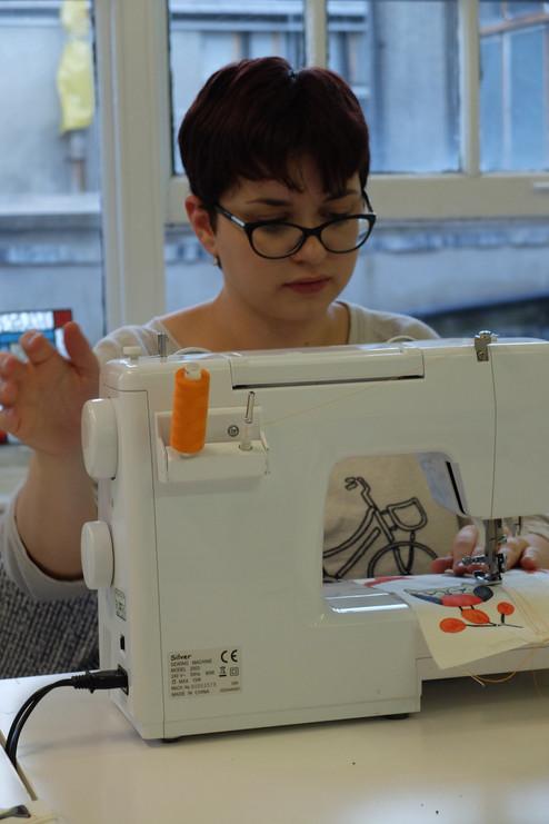 leraning to sew