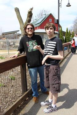 Michael and Ben at Vilas Zoo