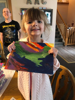 Sean painted a picture for Ellie